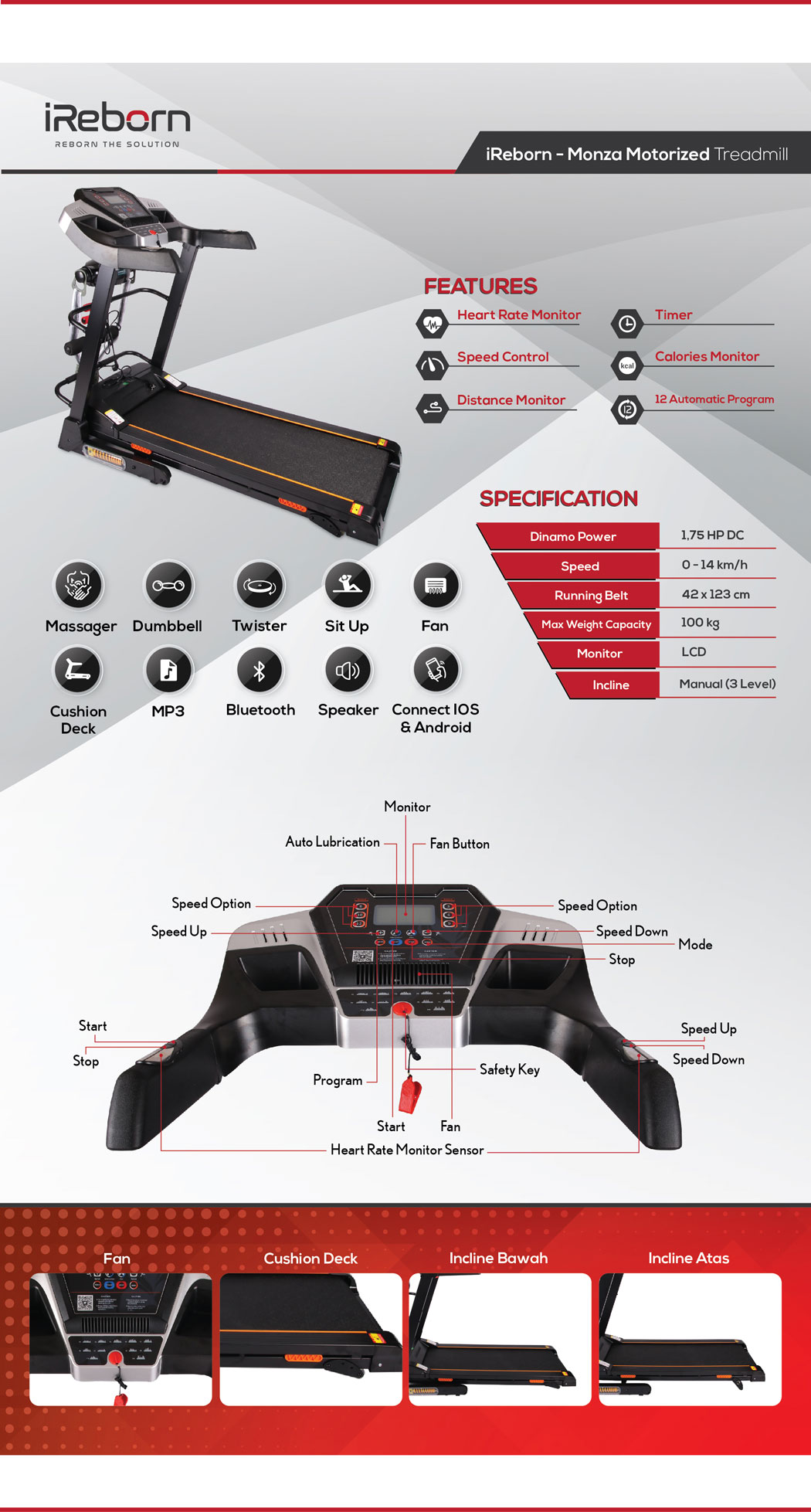Monza Motorized Treadmill 24