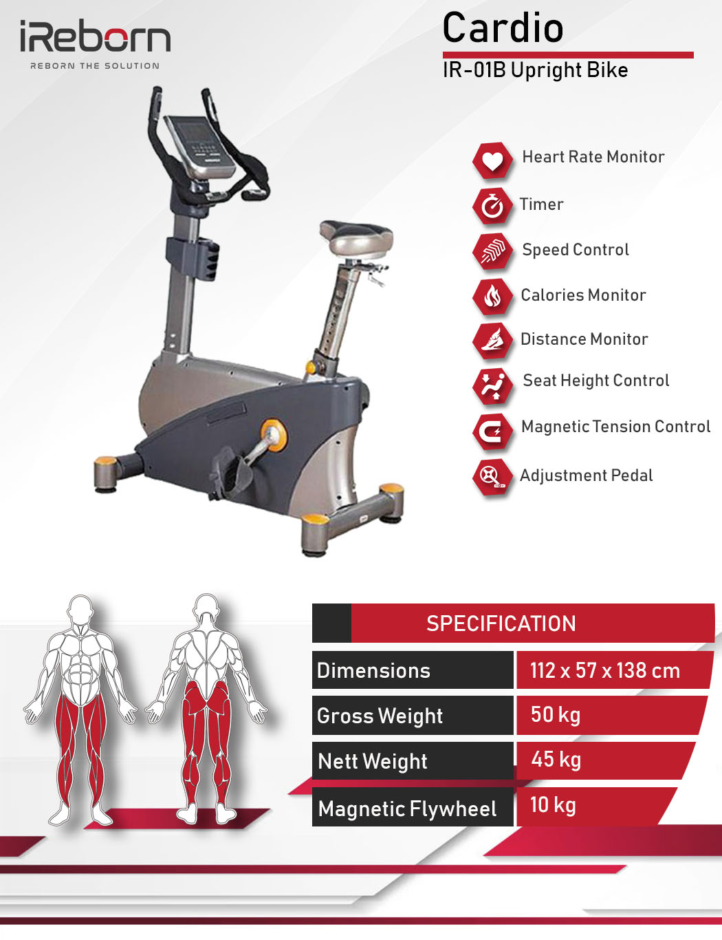 IR-01B Upright Bike 10