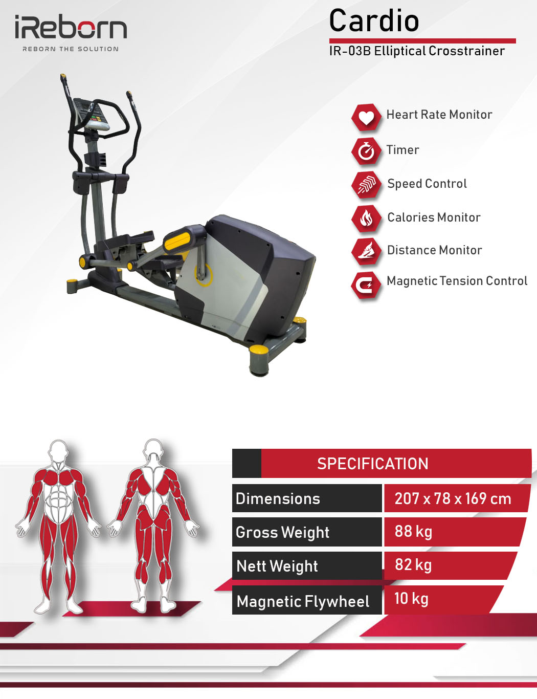 IR-03B Elliptical Crosstrainer 10