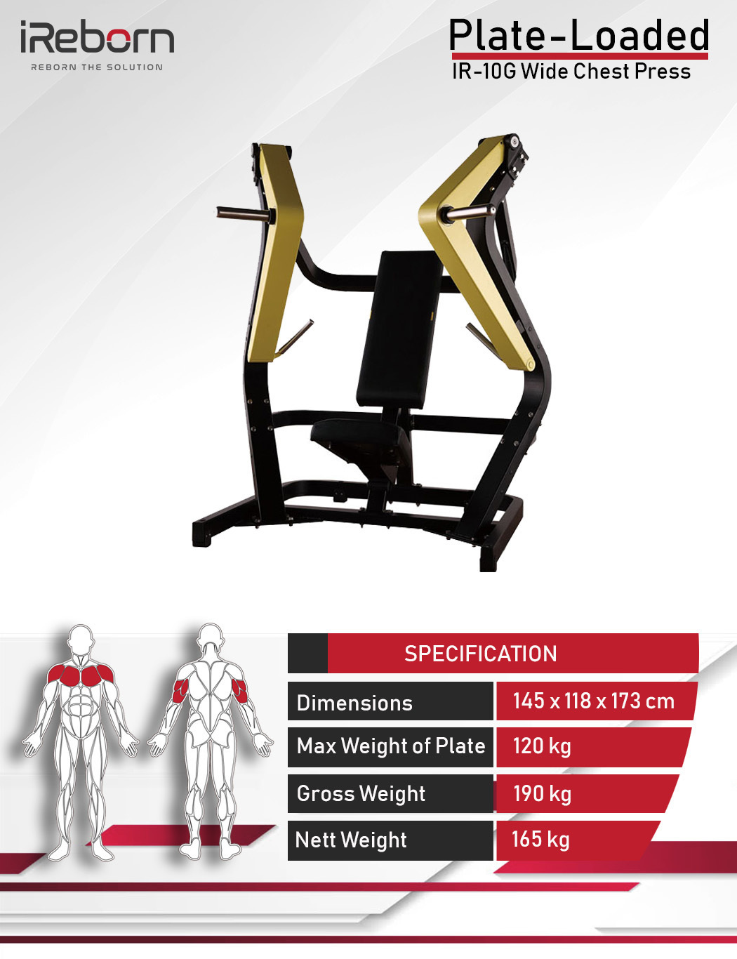 IR-10G Wide Chest Press 10