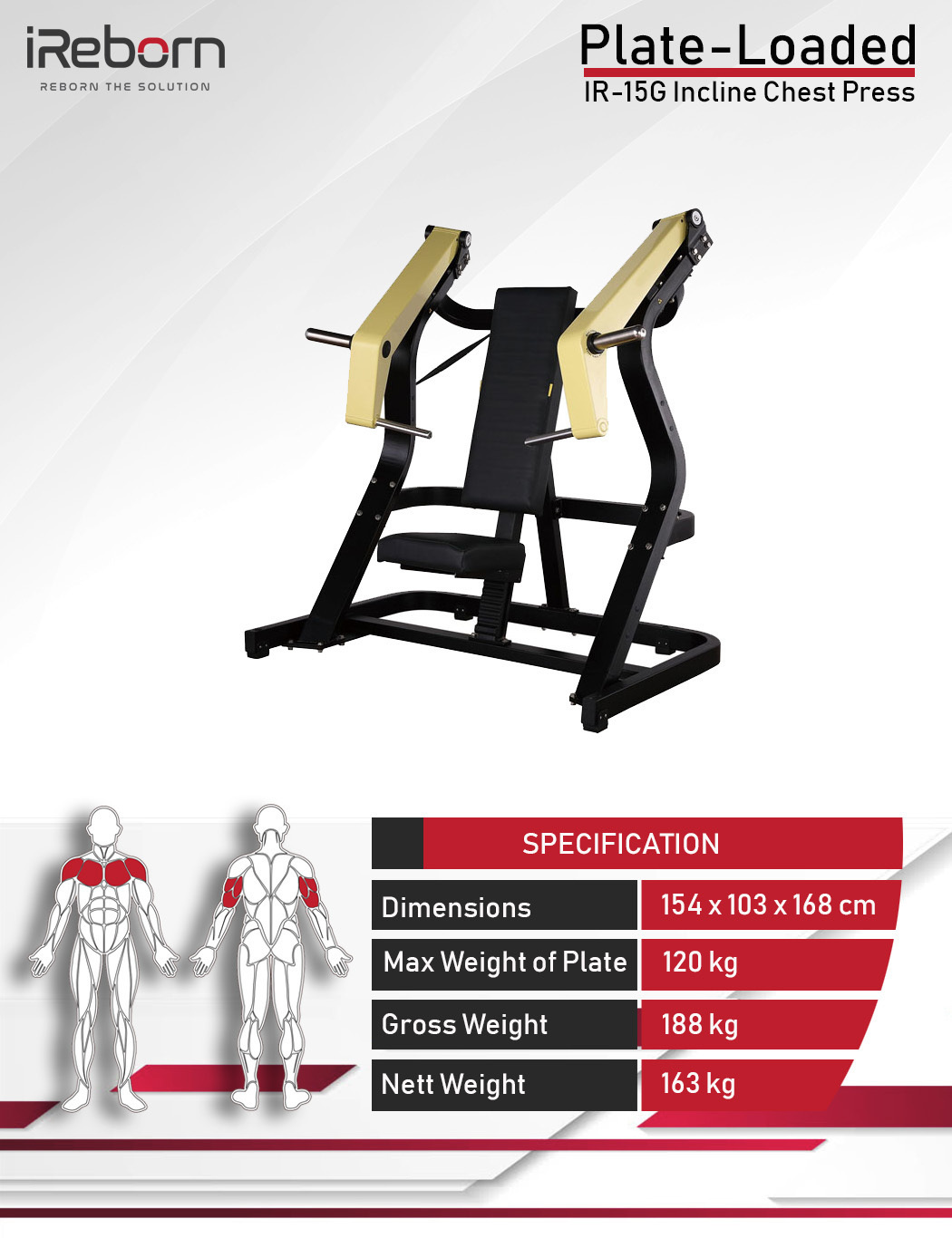 IR-15G Incline Chest Press 10