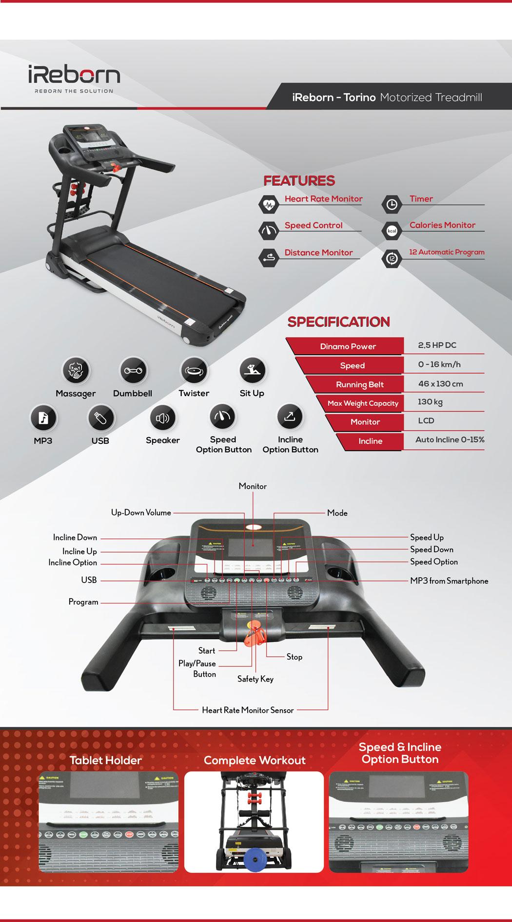 Torino Motorized Treadmill 22