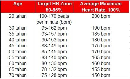 Panduan Mengukur Detak Jantung Maksimum Dan Targetnya 10