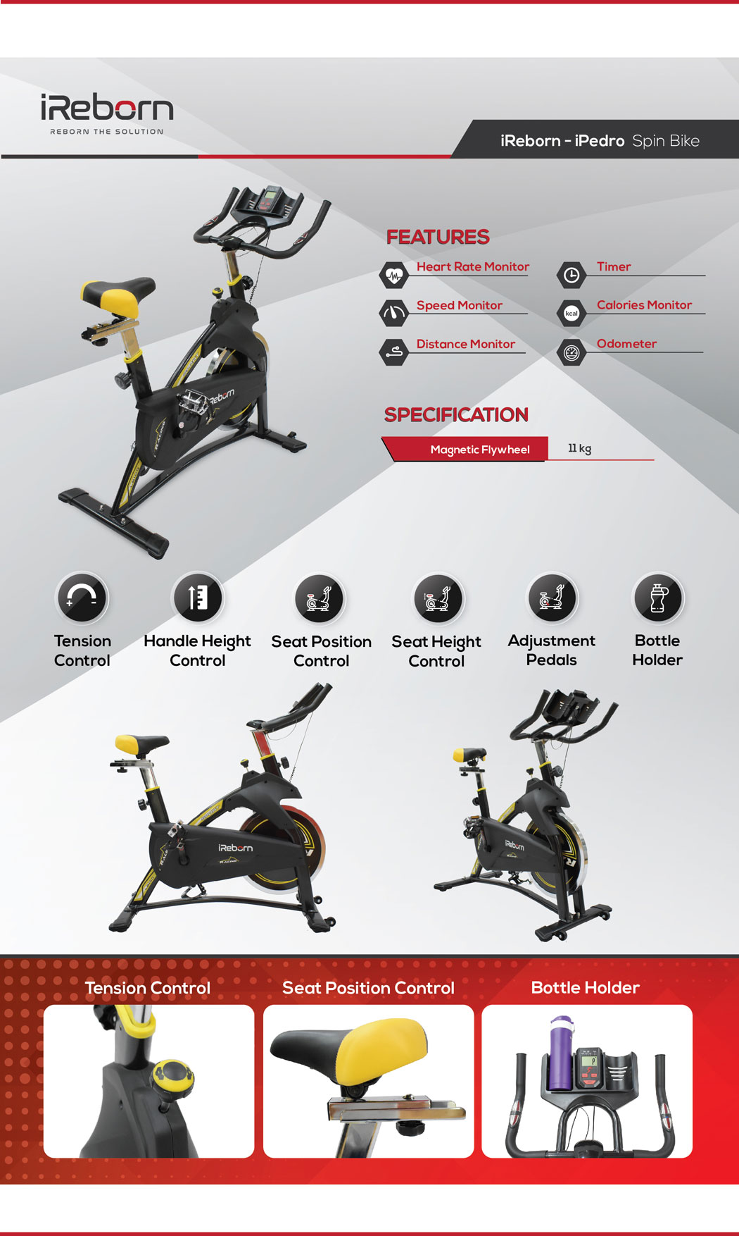 iPedro Spin Bike 18